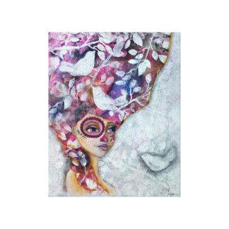 Dia De Los Muertos Marie Antoinette Stretched Canvas Print