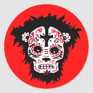 dia de los muertos monkey stickers