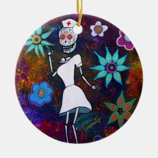 Dia de los Muertos  Nurse Christmas Ornament