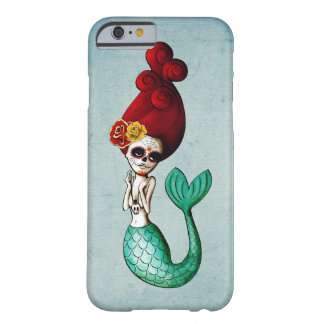Dia de Los Muertos Old School Mermaid Barely There iPhone 6 Case