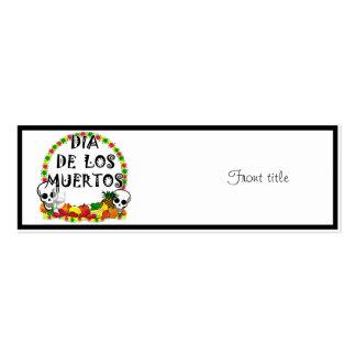 Dia De Los Muertos Pack Of Skinny Business Cards