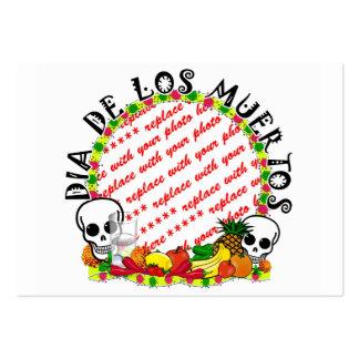 Dia De Los Muertos Photo Frame Business Cards