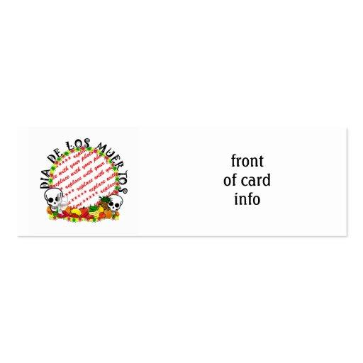 Dia De Los Muertos Photo Frame Business Card