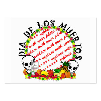Dia De Los Muertos Photo Frame Pack Of Chubby Business Cards