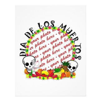 DIA DE LOS MUERTOS Photo Frame Template 21.5 Cm X 28 Cm Flyer