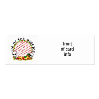 DIA DE LOS MUERTOS Photo Frame Template Pack Of Skinny Business Cards