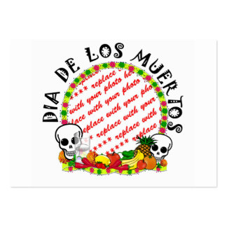 DIA DE LOS MUERTOS Photo Frame Template Large Business Cards (Pack Of 100)