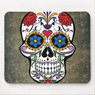Dia De Los Muertos Red Roses Sugar Skull Mouse Mat