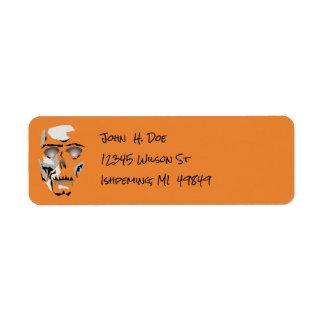 Dia de Los Muertos Skeleton Halloween Labels
