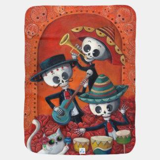 Dia de Los Muertos Skeleton Mariachi Trio Baby Blanket