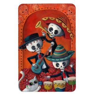 Dia de Los Muertos Skeleton Mariachi Trio Vinyl Magnets