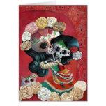 Dia de Los Muertos Skeletons Mother and Daughter