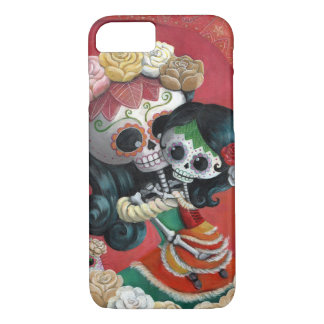 Dia de Los Muertos Skeletons Mother and Daughter iPhone 8/7 Case