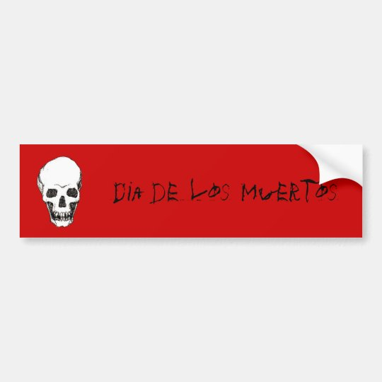 Dia de los Muertos skull Bumper Sticker