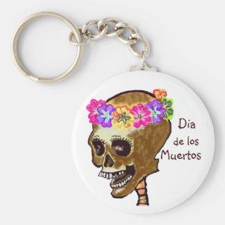 Dia de los Muertos skull Key Ring