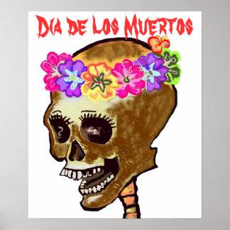 Dia de los Muertos skull Poster