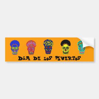 Dia de los Muertos skulls Bumper Sticker