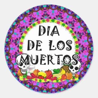 Dia De Los Muertos Round Stickers