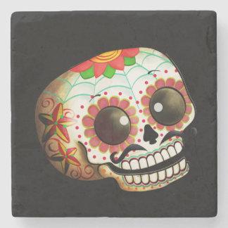 Dia de Los Muertos Sugar Skull Art Stone Beverage Coaster