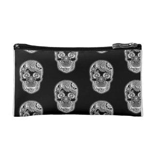 Dia de los Muertos Sugar Skull Cosmetic Bag