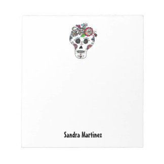Dia de Los Muertos, Sugar Skull, Custom Notepad