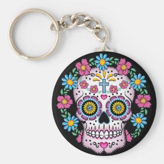 Dia de los Muertos Sugar Skull Keychains