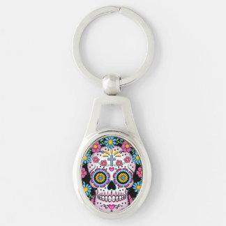 Dia de los Muertos Sugar Skull Key Ring