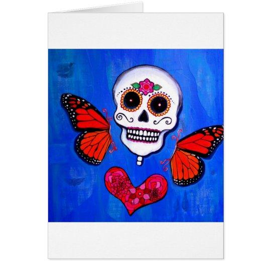 Dia De Los Muertos Sugar Skull Painting Card