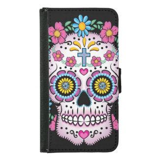 Dia de los Muertos Sugar Skull Samsung Galaxy S5 Wallet Case