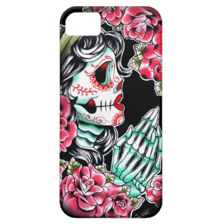 Dia De Los Muertos Sugar Skull Tattoo Flash iPhone 5 Cases