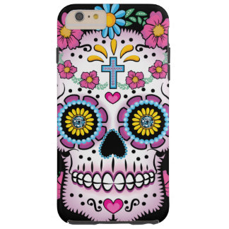 Dia de los Muertos Sugar Skull Tough iPhone 6 Plus Case