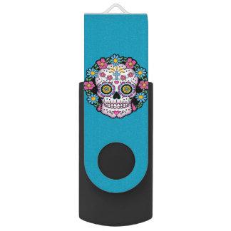 Dia de los Muertos Sugar Skull USB Flash Drive