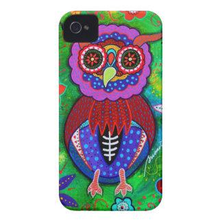 Dia de los Muertos talavera Wise Owl iPhone 4 Case