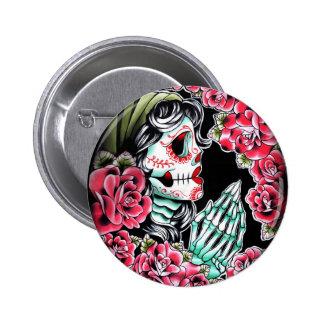 Dia De Los Muertos Tattoo Flash Pins