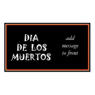 DIA DE LOS MUERTOS Text Design Pack Of Standard Business Cards