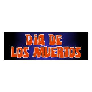 DIA DE LOS MUERTOS Text Design Pack Of Skinny Business Cards