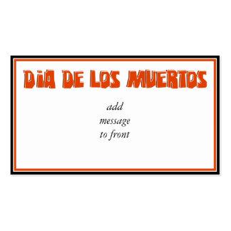 DIA DE LOS MUERTOS Text Design Business Card Template