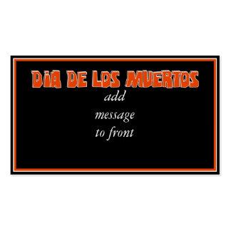 DIA DE LOS MUERTOS Text Design Business Card