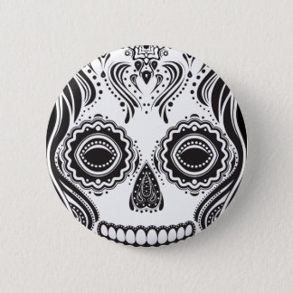 Dia de los Muertos That Girl Skull 6 Cm Round Badge