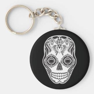 Dia de los Muertos That Girl Skull Basic Round Button Key Ring