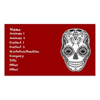 Dia de los Muertos That Girl Skull Business Card Template