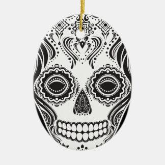 Dia de los Muertos That Girl Skull Christmas Ornament