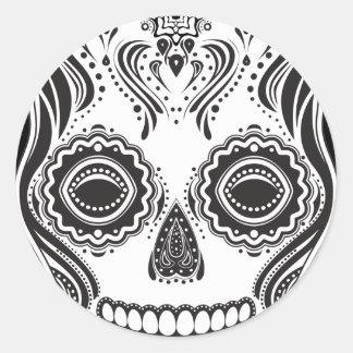 Dia de los Muertos That Girl Skull Classic Round Sticker
