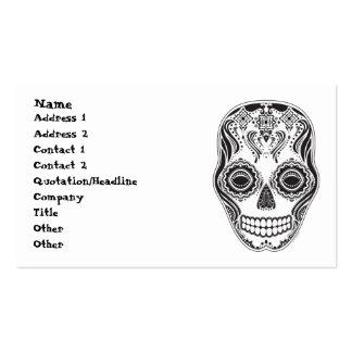 Dia de los Muertos That Girl Skull Diamond Pattern Business Card