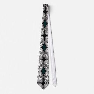 Dia de los Muertos That Girl Skull Diamond Pattern Tie
