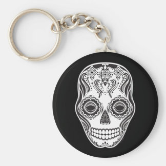 Dia de los Muertos That Girl Skull Key Ring