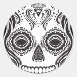 Dia de los Muertos That Girl Skull Round Sticker