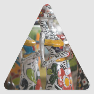 Dia De Los Muertos Triangle Sticker