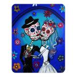 DIA DE LOS MUERTOS WEDDING 11 CM X 14 CM INVITATION CARD