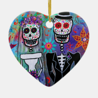 DIA DE LOS MUERTOS WEDDING CHRISTMAS ORNAMENT